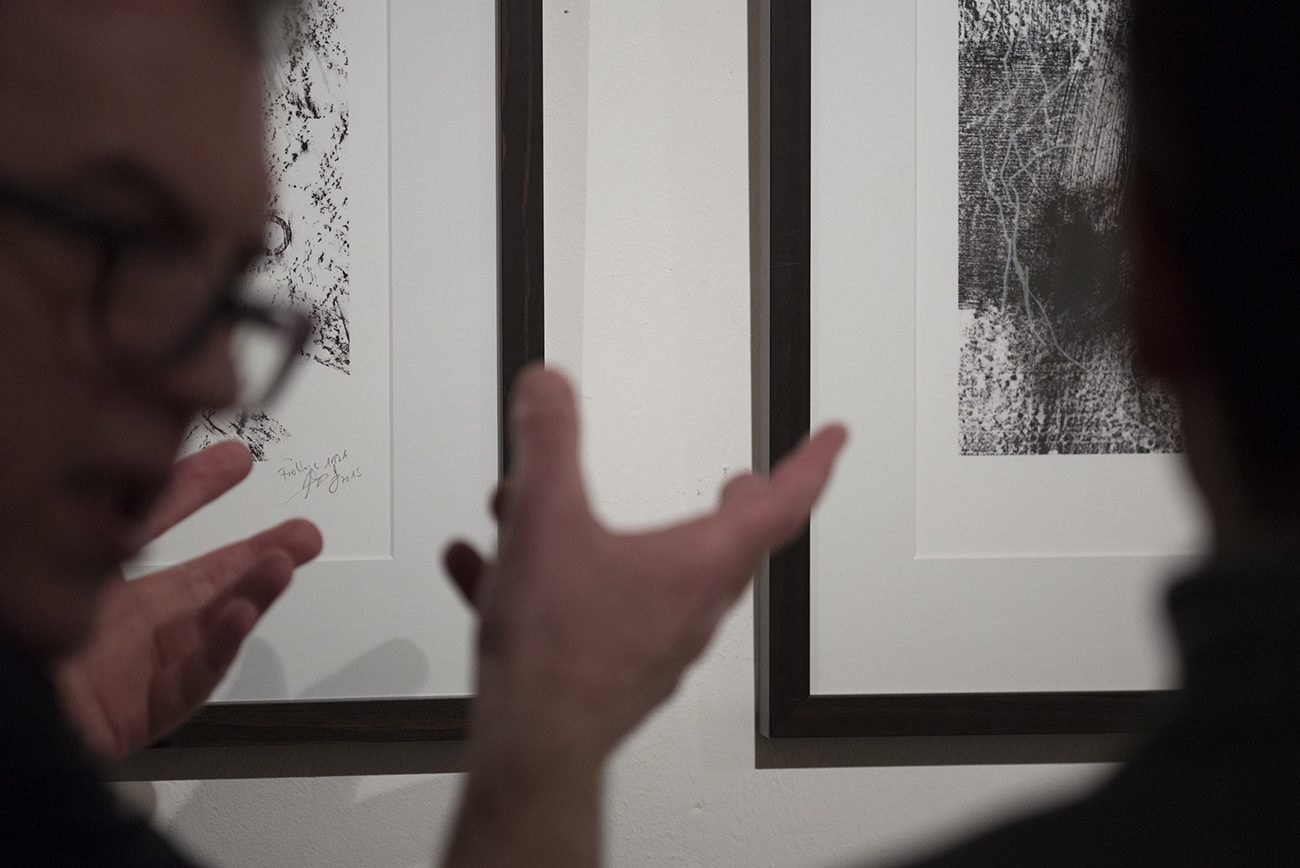 Impression der Ausstellung von Jens Lay im Bunker-D