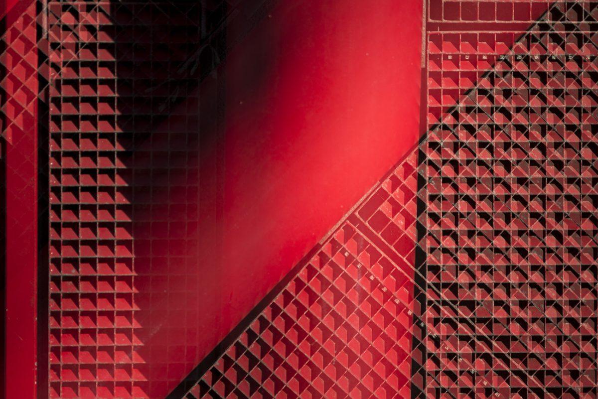 Rot mit Schatten