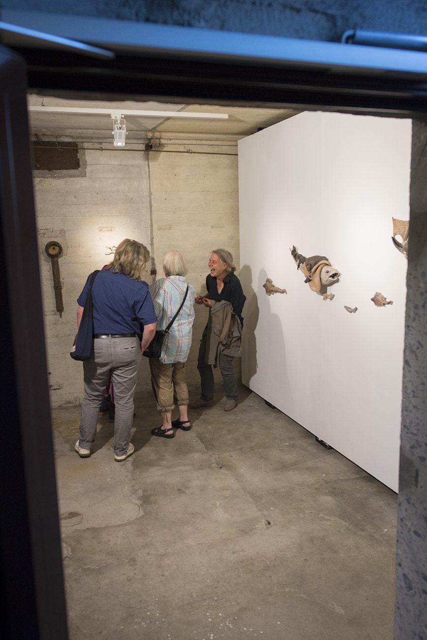 Impression der Ausstellung von Uschi Koch im Bunker-D